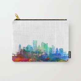 Pittsburgh City Skyline Watercolor by zouzounioart Carry-All Pouch