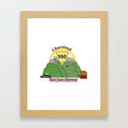 I Survived HWY 550 Durango to Silverton Framed Art Print