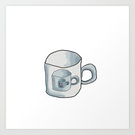 Cute Cup of coffee Art Print