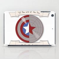 bucky barnes iPad Cases featuring Steve Rogers and Bucky Barnes Shield by Mallory Anne