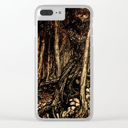 Arthur Rackham - Fouqué - Undine (1909) - A fearsome forest right perilous to traverse Clear iPhone Case