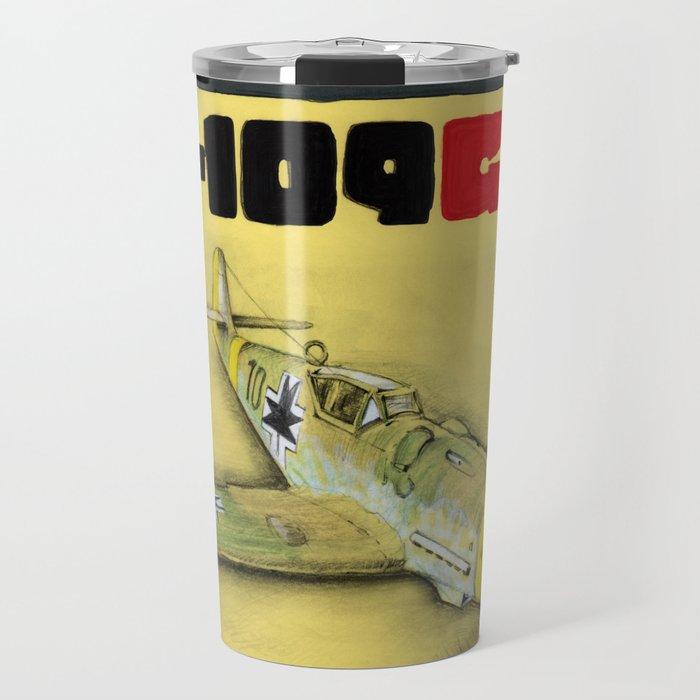Bf-109 Airplane by Dennis Weber / ShreddyStudio Travel Mug