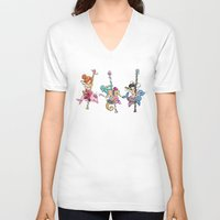 sassy V-neck T-shirts featuring Sassy Seal by tsai-fi
