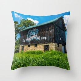 Ohio Bicentennial Barn - Hamilton County - Ohio Throw Pillow