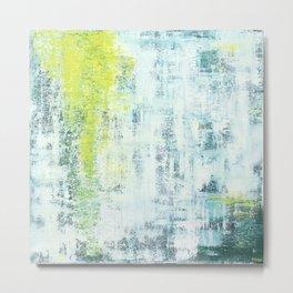 Flowing Green Metal Print