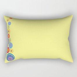 Circle Flower Love Rectangular Pillow