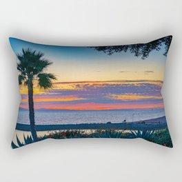 Wedge Sunset Afterglow Rectangular Pillow