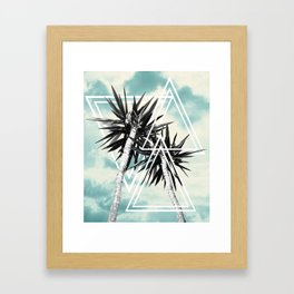 Cali Summer Vibes Palm Trees Geometric Triangles #1 #tropical #decor #art #society6 Framed Art Print