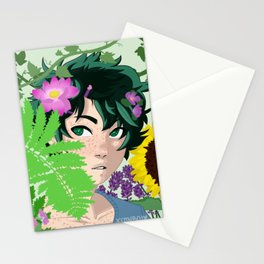Florist AU Izuku Midoriya Stationery Cards