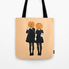Pumpkin Heads Tote Bag