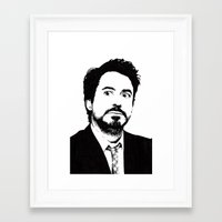 robert downey jr Framed Art Prints featuring Robert Downey Jr. by ItalianBrush