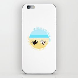 Frenchies Rolling In The Sand iPhone Skin