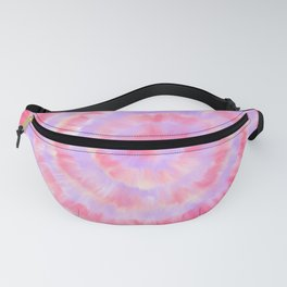 Modern abstract pink lavender blue watercolor tie dye Fanny Pack