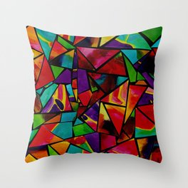 Window to a Colorful Soul Throw Pillow