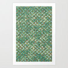 Between Crooked Sheets Art Print
