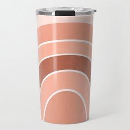 Rainbow arc - neutrals Travel Mug