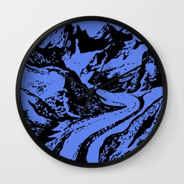Alps mountains Wall Clock