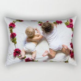 Love Roses Babies (Color) Rectangular Pillow