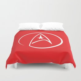 Heathen Trekkie - StarTrek 's Uhura Red Duvet Cover
