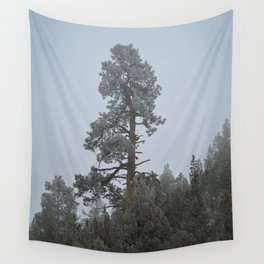 Ponderosa Pine In The Mist Wall Tapestry