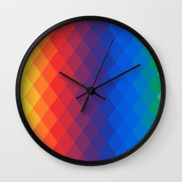 Rainbow geometric pattern Wall Clock