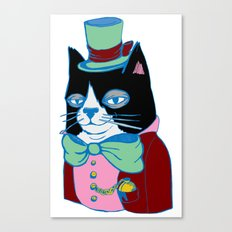 Dignified Cat Does Pastels Canvas Print