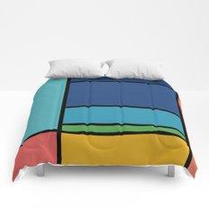 The Colors of / Mondrian Series - Ponyo- Miyazaki Comforters