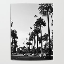 Los Angeles Black and White Poster