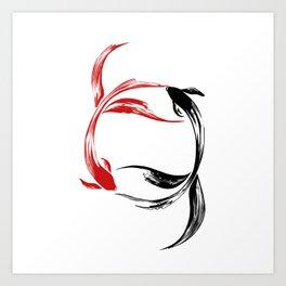Koi Yin & Yang Art Print