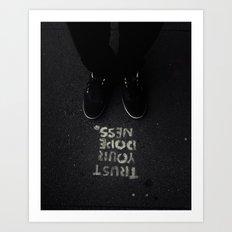 Friday Motto Art Print