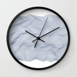 Facets - White and dark blue Wall Clock