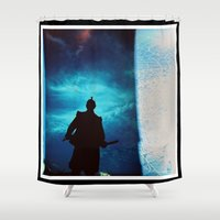 samurai Shower Curtains featuring Samurai by miha fras