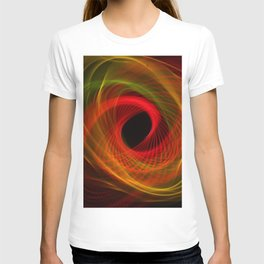 Orange Huricane Fiber Optic Light Painting T-shirt