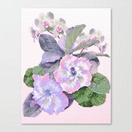 Tropical Botanical Lilac Canvas Print