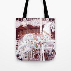 Paris Carousel Horses Tote Bag