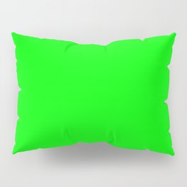 Solid Bright Green Neon Color Pillow Sham