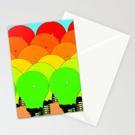 MARCH OF THE LIGHTBULBS Stationery Cards