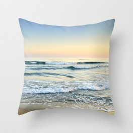 Serenity sea. Vintage. Square format Throw Pillow