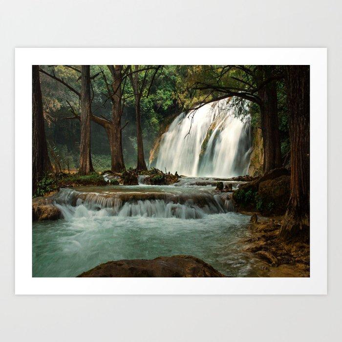 Silky Waterfall Art Print