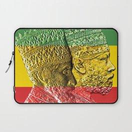 Haile Selassie King Menelik Laptop Sleeve
