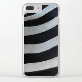 Textura: Zebra Stripes Clear iPhone Case
