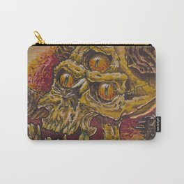 skull on wood Carry-All Pouch