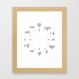 Math Clock - Clock Only Framed Art Print