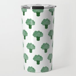 Pattern Green Broccoli  Travel Mug