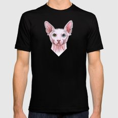Sphynx cat portrait MEDIUM Black Mens Fitted Tee