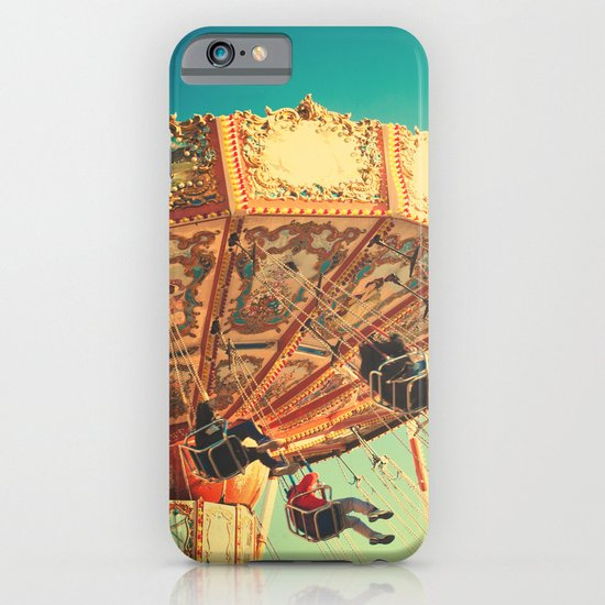 Vintage Chain Swing Ride on Blue Sky  iPhone & iPod Case