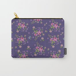 Cross stitched roses Carry-All Pouch