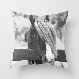 I am Watching You in BW Throw Pillow