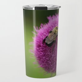 Bumble Bee on Purple Thistle Travel Mug