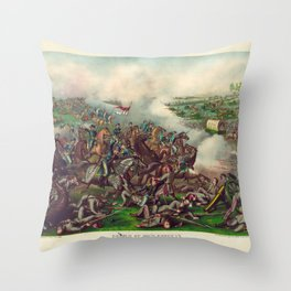 Civil War Battle of Five Forks April 1st 1865 Throw Pillow